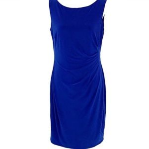 Anne Klein royal blue slip on sleeveless dress